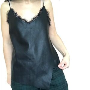 Zara Faux Leather Cami size S